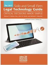 2017 Solo Small Firm Legal Technology Guide