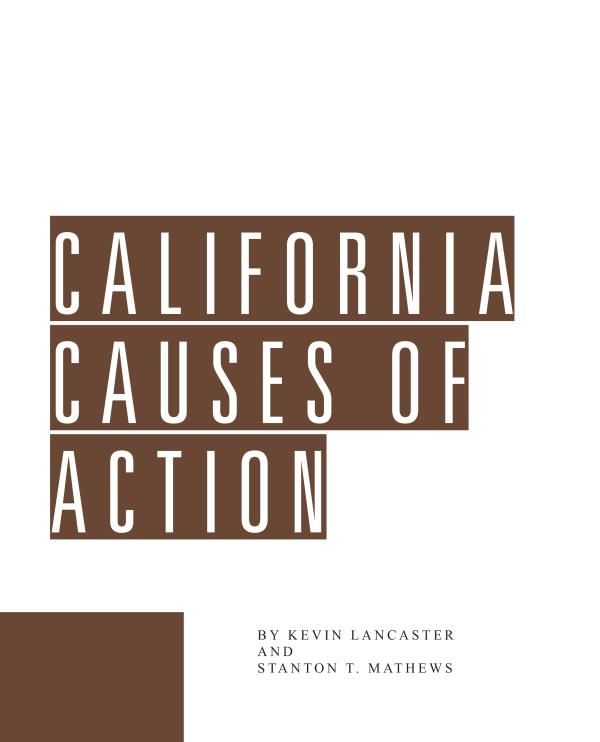 Cal Causes of Action