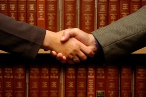 Legal handshake image