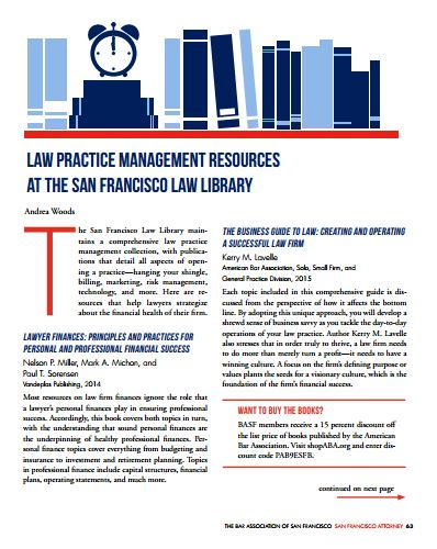 San Francisco Attorney Magazine